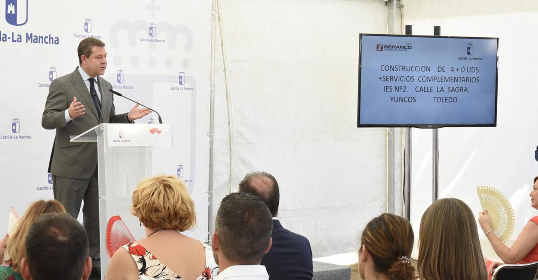 """El presidente García-Page pide al Gobierno central """"la misma educación, sanidad y servicios sociales que el resto de los españoles"""""""