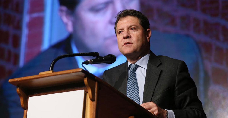 """El presidente García-Page reclama que nadie se excuse en la """"cultura y la libertad"""" para conseguir sus fines separatistas"""