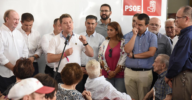 """García-Page: """"El PSOE de Castilla-La Mancha es el partido de la igualdad,  la justicia y la defensa de los intereses de esta tierra"""""""