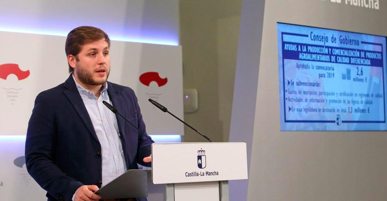 El Gobierno de Castilla-La Mancha destina 2,6 millones de euros para potenciar los alimentos de calidad diferenciada de la región en 2019