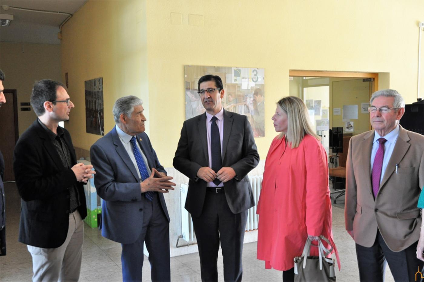 José Manuel Caballero e Inmaculada Jiménez visitan las obras financiadas por la Diputación Provincial en Tomelloso