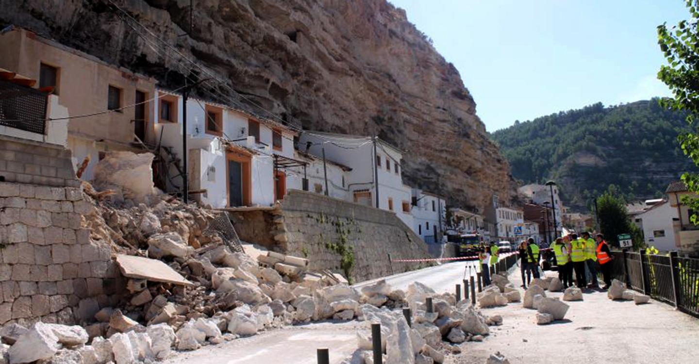 El Gobierno de España autoriza el Fondo de Contingencia del que saldrán las ayudas para Alcalá del Júcar por los desprendimientos de 2016