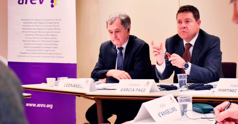 García-Page trasladará a las instituciones comunitarias el posicionamiento común de la AREV ante la reforma de la PAC para que se mantenga el presupuesto