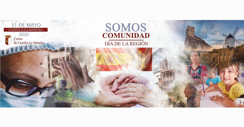 'Somos comunidad' el lema con el que las Cortes de Castilla-La Mancha celebrará el Día de la Región