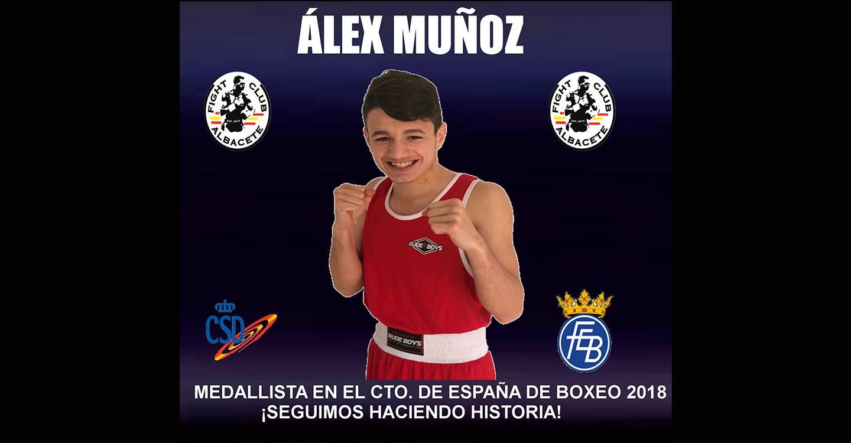 El albaceteño Álex Muñoz asegura la medalla en los Campeonatos de España de boxeo