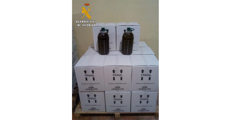 La Guardia Civil investiga a una persona por receptar y vender más de 12.000 kilos de aceituna de procedencia ilícita