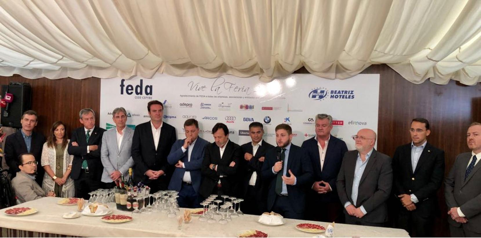 """Hernando destaca la """"alianza"""" con los empresarios de Albacete y de la región para conseguir que Castilla-La Mancha """"sea una tierra de origen y punto de destino"""""""