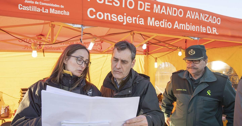 Francisco Tierraseca valora la coordinación y la rapidez de actuación en el incendio de Paterna del Madera (Albacete)