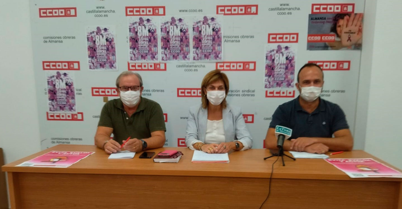 """CCOO Albacete presenta en Almansa la campaña de prevención de riesgos laborales """"Evita, Evalúa y Actúa"""""""