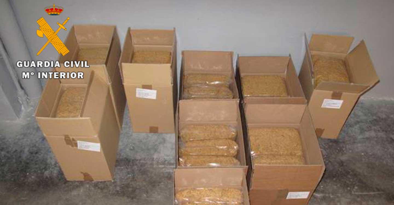 La Guardia Civil de Albacete incauta 40 kilos de picadura de tabaco de contrabando