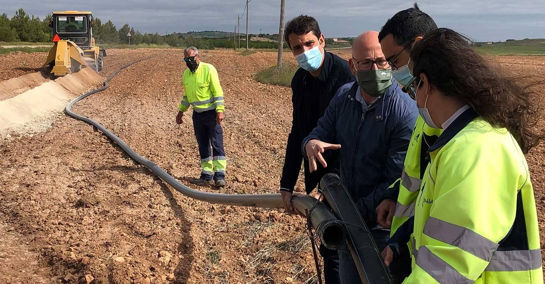 La Agencia del Agua comprueba el buen ritmo de las obras de canalización a la pedanía de San Pedro en Albacete