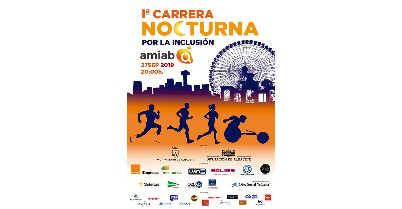 Albacete celebrará la Primera Carrera Nocturna por la Inclusión de la mano de Amiab el próximo 27 de septiembre.