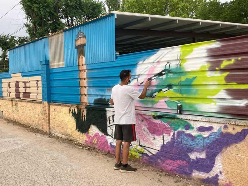 ASPRONA simboliza con un grafiti su modelo de servicios residenciales