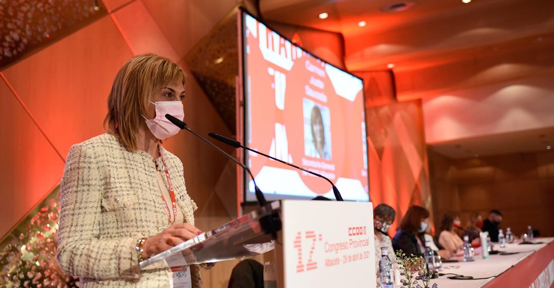 Carmen Juste, reelegida secretaria general de CCOO Albacete