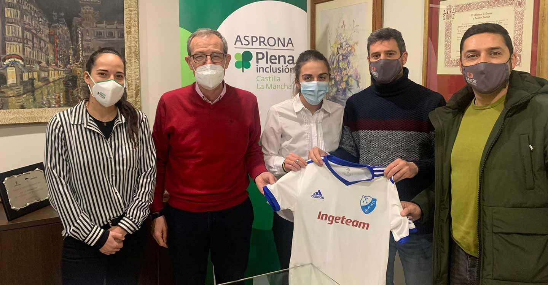 El Club de Fútbol Femenino Albacete firma un convenio con ASPRONA para integrar al Campeonas Team