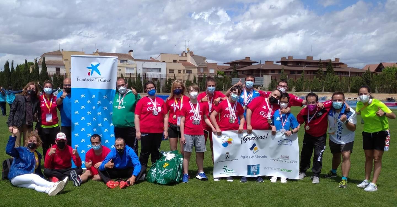 Los Clubes Deportivos de ASPRONA consiguen 23 medallas en el XXIII Campeonato Regional de Atletismo