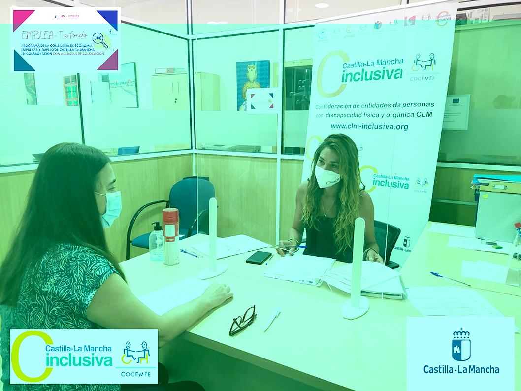 CLM INCLUSIVA COCEMFE colabora con la red de Oficinas Emplea de la Junta de Comunidades a través del proyecto EMPLEA-T A FONDO.