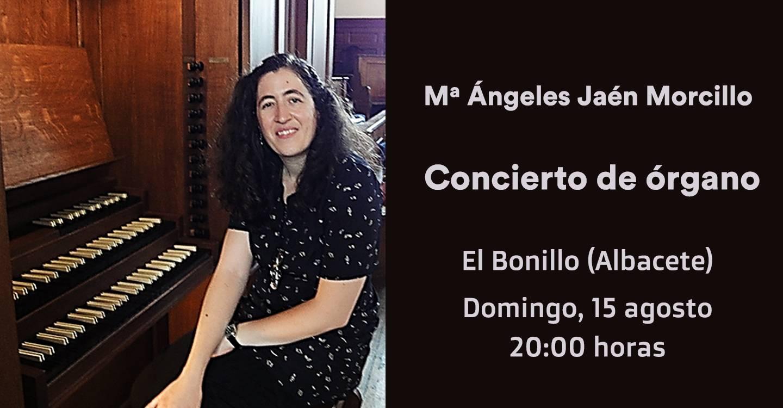 Mª Ángeles Jaén Morcillo dará un concierto de órgano histórico en El Bonillo