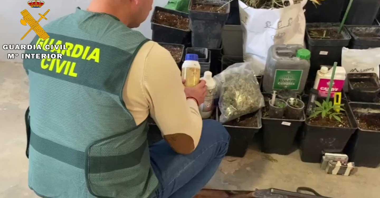 La Guardia Civil detiene e investiga a dos personas por un delito contra la salud pública y otro de tenencia ilícita de armas