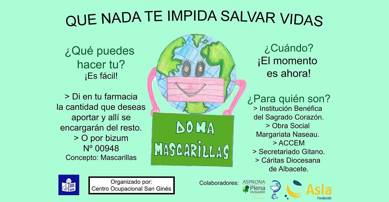 El Colegio de Farmacéuticos de Albacete y Asprona inician una campaña benéfica para repartir mascarillas a los más necesitados a través de las farmacias