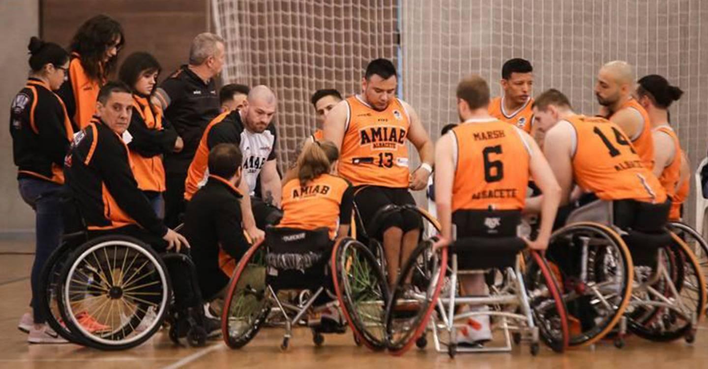 El BSR Amiab Albacete disputa el Campeonato Regional de baloncesto en silla de ruedas ante el Puertollano