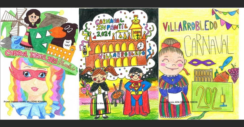 Entregados los premios a las ganadoras del concurso infantil de carteles del Carnaval 2021