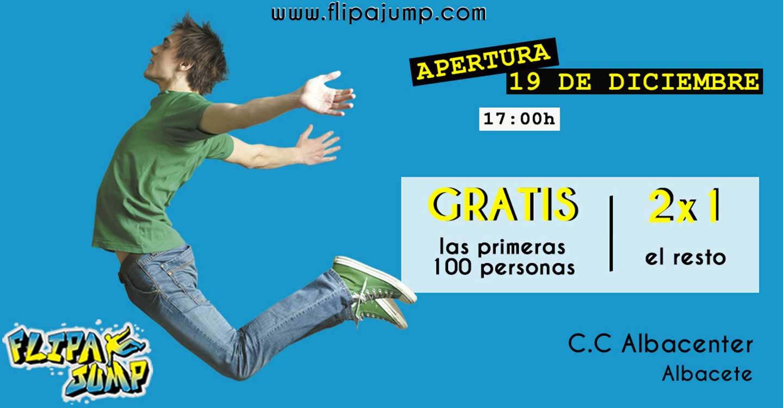 La cadena de parques de trampolines FlipaJump inaugura su primer parque de ocio en Albacete el próximo 19 de diciembre