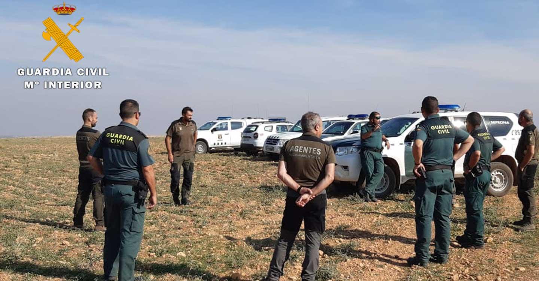 La Guardia Civil y Agentes Medioambientales inspeccionan cotos de caza de la provincia de Albacete en busca de cebos envenenados