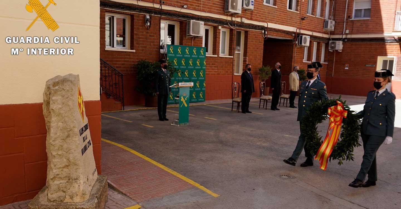 La Guardia Civil de Albacete celebra un sencillo acto en el 177º aniversario de su fundación por el Duque de Ahumada