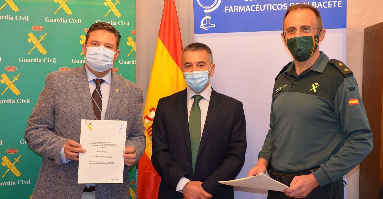 La Guardia Civil de Albacete y el Colegio de Farmacéuticos de Albacete firman un procedimiento operativo  en relación al Plan Mayor de Seguridad