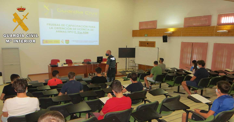 La Guardia Civil de Albacete realiza las pruebas para la obtención de la Licencias de Armas tipos D, E y AEM
