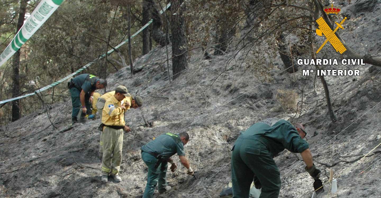 La Guardia Civil de Albacete detiene a dos personas por un supuesto delito de incendio forestal cometido en el mes de agosto de 2019