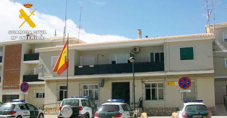 La Guardia Civil de Almansa detiene a dos personas por la comisión de un robo con violencia e intimidación en Almansa