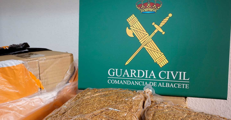 La Guardia Civil de Albacete interviene 177 kilos de picadura de tabaco de contrabando adquiridos a través de Internet