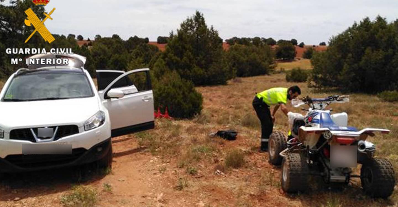 La Guardia Civil auxilia a un vecino de El Bonillo tras sufrir un grave accidente con un quad
