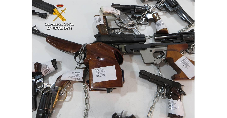 La Guardia Civil de Albacete subastará 418 armas de fuego el próximo día 10 de junio