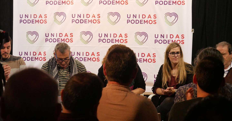 María Pérez dice en Villarrobledo que la única opción para frenar el maltrato a los ciudadanos es votar Unidas Podemos