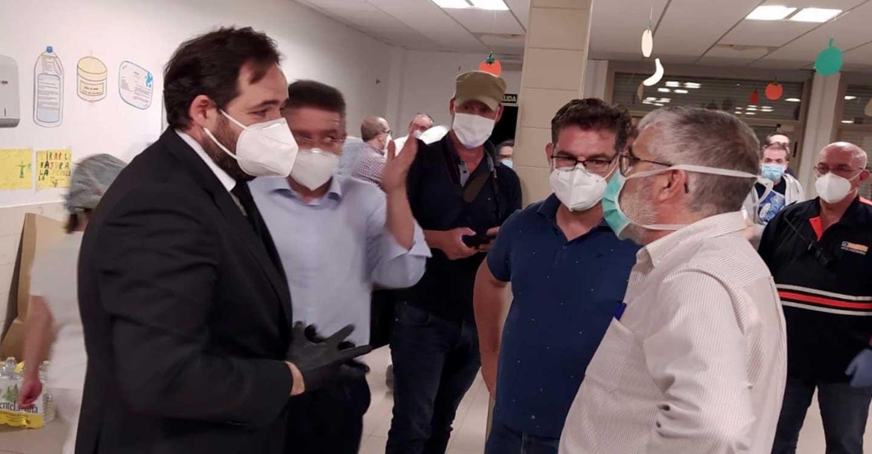 Núñez felicita a todo el personal sanitario del Hospital de Hellín y a los servicios de emergencia por su rápida actuación en el incendio que ha sufrido el centro hospitalario