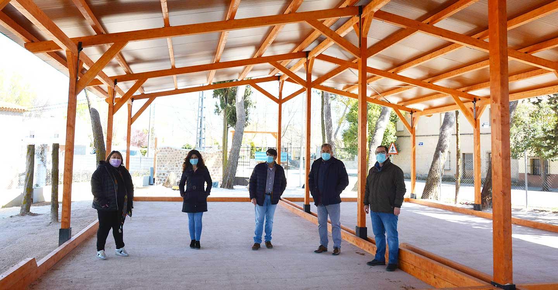 Nuevas instalaciones del campo municipal de petanca en el Bonillo