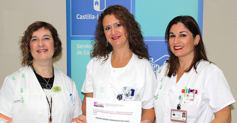 Profesionales de Enfermería del Complejo Hospitalario Universitario de Albacete, premiadas en una jornada sobre heridas complejas