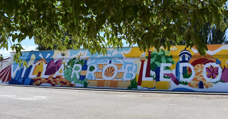 """Terminado """"El Muralico"""" de CELDA-19 que llena de color el Barrio de los Pintores de la localidad de Villarrobledo"""