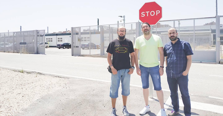 Unidas Podemos apoya a los trabajadores de la línea del ferrocarril en Albacete