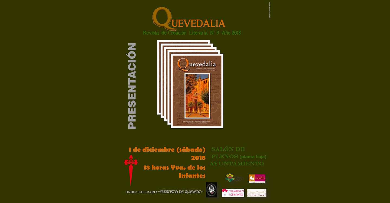 Presentación de Quevedalia, revista de Creación Literaria de Villanueva de los Infantes