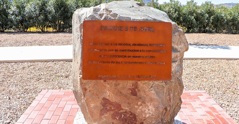 El Parque 3 de Abril rinde desde hoy tributo a los ayuntamientos democráticos de Argamasilla de Calatrava