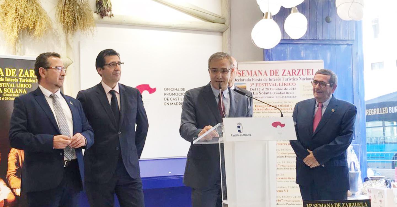 El Gobierno regional destaca la importancia de la Semana de la Zarzuela de La Solana en el calendario de festivales más importantes de España