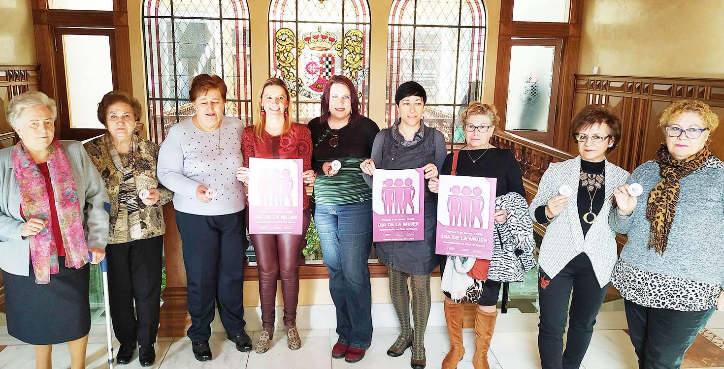 Acto institucional y jornada reivindicativa para celebrar el Día de la Mujer en Valdepeñas