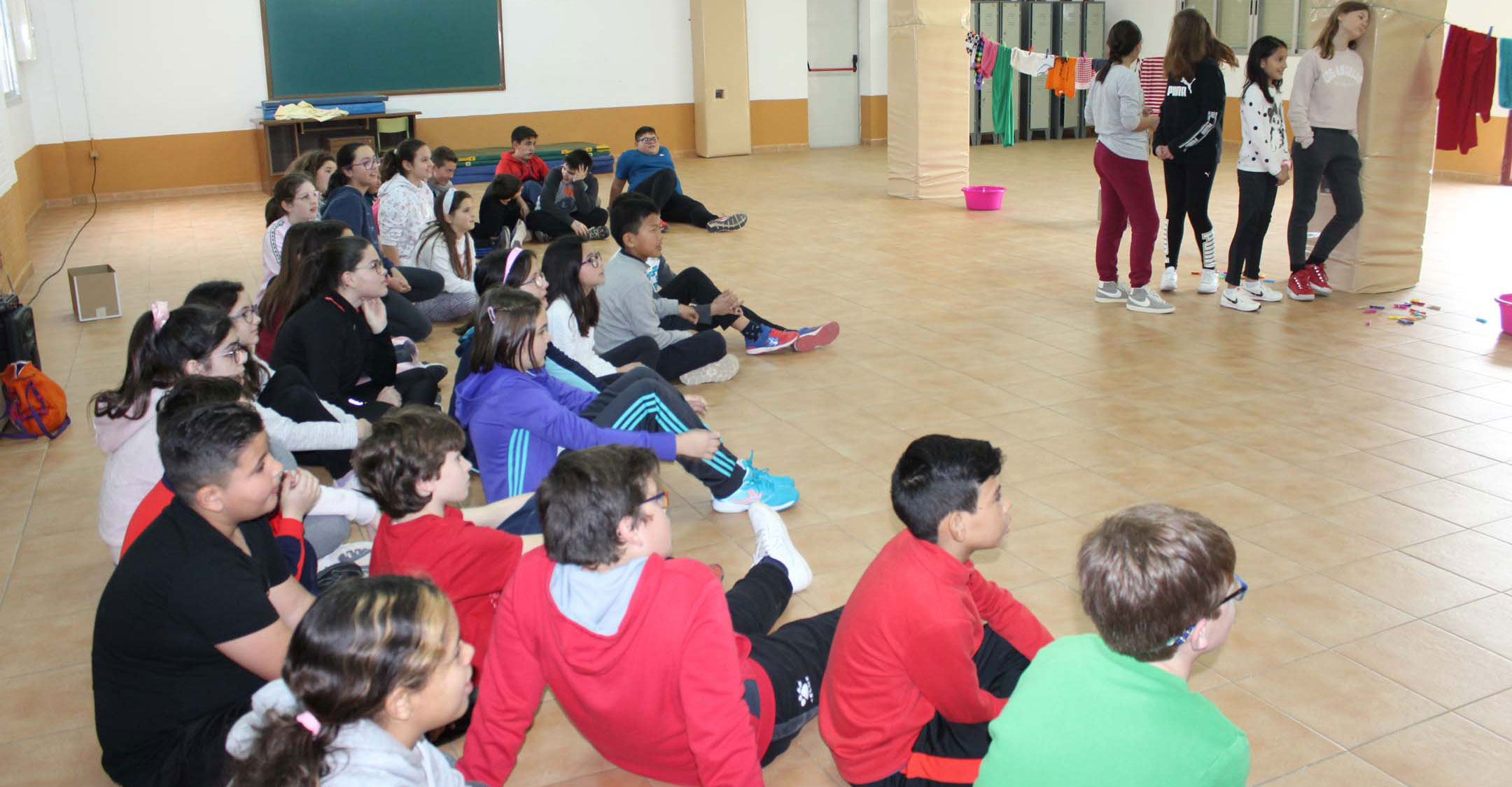 Escolares del CEIP García Bellido participan en una Gymkana por la Igualdad