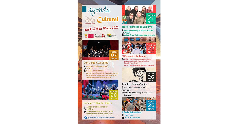 La música y el teatro protagonistas de la Agenda Cultural del mes de marzo