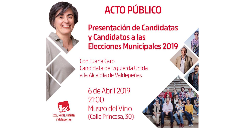Izquierda Unida presenta su candidatura en el Museo del Vino de Valdepeñas.