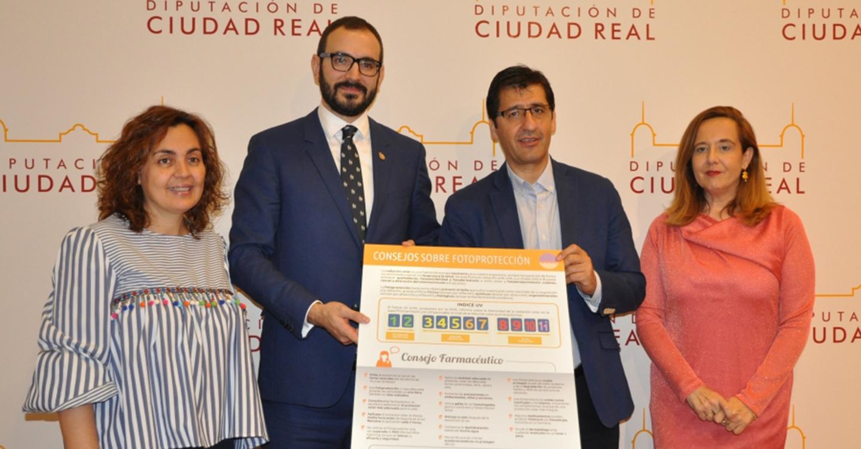 Diputación de Ciudad Real y Colegio de Farmacéuticos promueven una campaña para prevenir los efectos nocivos del sol